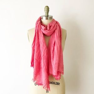 Super Soft Coral Faded Red Large Scarf Shawl